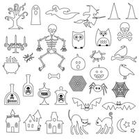 Halloween Digital Frimärken Clipart vektor