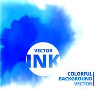 vektor vatten bläck stänk burst i blå färg