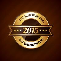 årets bästsäljare år 2015 gulddesign vektor