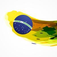 Brasilien Flagge abstrakten Hintergrund vektor