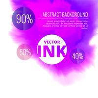 Vektor Wassertintenspritzer platzen in lila Farbe