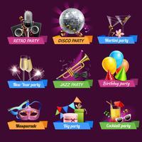 Party-Embleme eingestellt