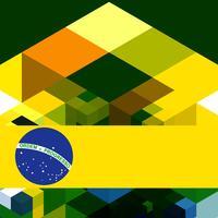 Brasilien Hintergrund vektor
