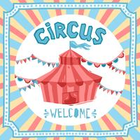 Zirkus-Retro-Plakat vektor