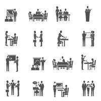 Sats på företagsutbildningssymboler