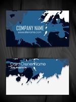 Grunge-Stil Visitenkarte Design vektor
