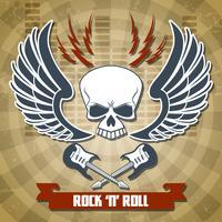 Retro rock bakgrund