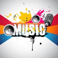 Grunge Stil Musik Hintergrund