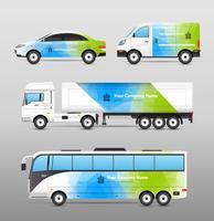 Design für Transportwerbung vektor