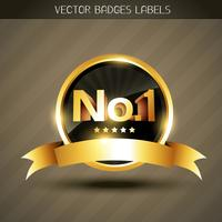 vektor vinnare gyllene etikett