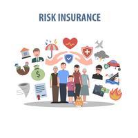 Försäkringskoncept Flat vektor