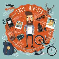 Hipster-Konzept-Siegel-Symbol