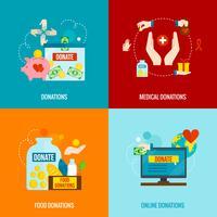 välgörenhet platt uppsättning