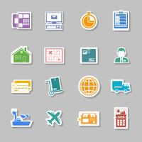 Färg logistisk service klistermärke