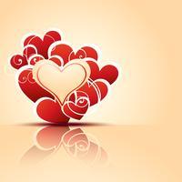 hjärta bakgrund vektor