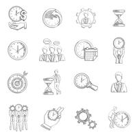 Zeitmanagement-Skizze