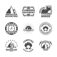 Mountine-Kletterer-Etiketten