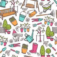 Trädgårdsarbete Seamless Pattern