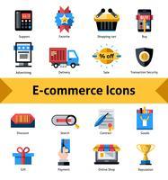 E-handelssymboler vektor