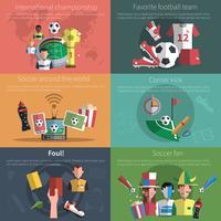 fotboll mini affisch set