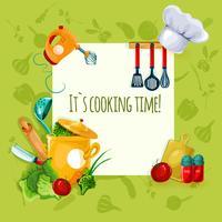 Matlagningsredskap Bakgrund vektor