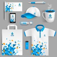 Unternehmensidentität blau