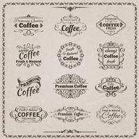 Kaffee-Emblem-Set