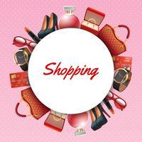 Shopping Zubehör Rahmen vektor