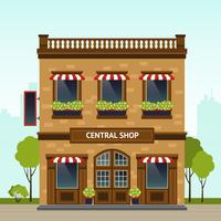 Shop-Fassade-Illustration vektor