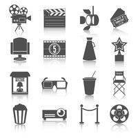 Kino-Unterhaltungsikonen eingestellt vektor
