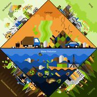 Föroreningskorn Set vektor