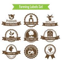 Landwirtschaft Ernte und Landwirtschaft Abzeichen oder Etiketten gesetzt