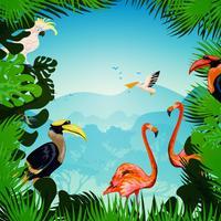 Tropisk skogsbakgrund vektor