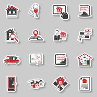 Immobilien-Aufkleber-Set