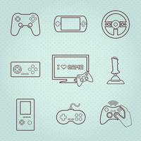 Videospiel-Controller Icons Set