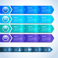 Abstrakte Papiergeschäft Infografiken Elemente vektor