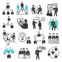 Teamarbeit-Ikonen eingestellt