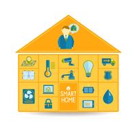Intelligentes Haustechnik-Technologiekonzept