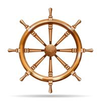 Antik träskivhjul