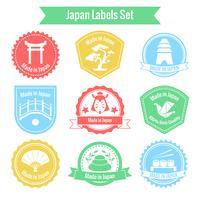 Tillverkad i Japan etikettuppsättning