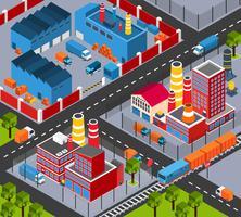 Fabrikinfrastruktur isometrisch