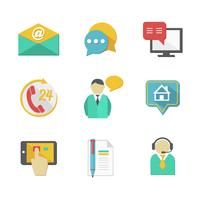 Kunden-Helpdesk kontaktiert Design-Elemente vektor