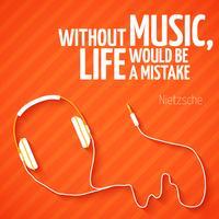 Heller Kopfhörermusiktapetenhintergrund