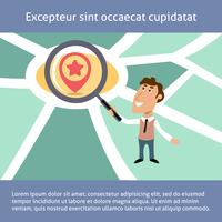 Business Man Location Search-Konzept vektor