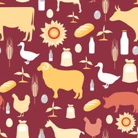 Landwirtschaft nahtlose Muster vektor
