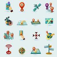 Navigationssymbole eingestellt