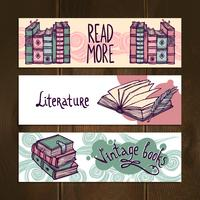 Retro Bücher Banner Set