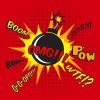 komisk bomb explosion affisch vektor