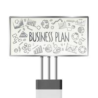 Geschäftsdiagramme in der Anschlagtafel