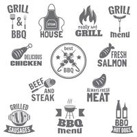 Bbq grill etikett